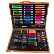 Σετ ζωγραφικής σε ξύλινο κουτί 150 τεμαχίων Υ29,7x37,8x4,6εκ.
