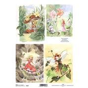 """Ριζόχαρτο """"fairies"""" 21x29εκ.   (ITD-R129)"""