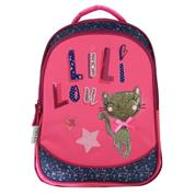 "Bagtrotter τσάντα δημοτικού πλάτης ""Lililou"" μπλε-ροζ 42x30x14εκ."