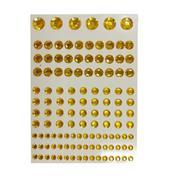 Στράς αυτοκόλλητα χρυσό 130τεμ σε καρτέλα