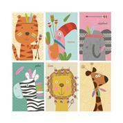 """Χαρτοπετσέτες 20τεμ. """"ζώα ζούγκλας"""" 33x33εκ. (SDOG 022801)"""