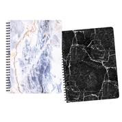 Next marble τετρ. σπιράλ 21x29εκ. 2θεμ.