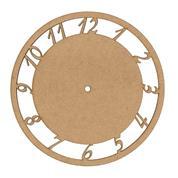 Ρολόι mdf με νούμερα  Ø250x3χιλ.