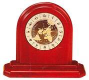 Bestar ρολόι με παγκόσμια ώρα ξύλινο Υ18x19,8x7εκ.
