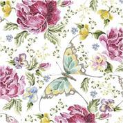 """Χαρτοπετσέτες 20τεμ. 33x33εκ """"πεταλούδες-λουλούδια"""" (SL_OG_048401)"""
