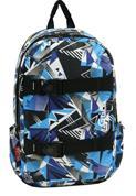 Bagtrotter τσάντα πλάτης εφηβική Global blue με 2 θήκες 47x30x12εκ.