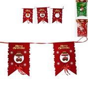 Χριστουγεννιάτικη γιρλάντα σημαία σετ 8 τμχ σε 3 σχέδια μήκος 3μ.