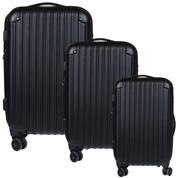 Σετ 3 βαλίτσες ταξιδίου abs μαύρο Υ77x48x32εκ. & Υ67x43x27εκ. & Υ57x36x24εκ.