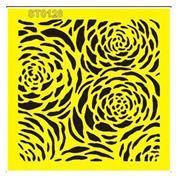 """Στένσιλ πλαστικό """"Τριαντάφυλλα"""" 16x16εκ.  (ST0128Β)"""