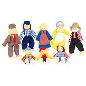 Goki σετ οικογένεια αγροτών με 8 κούκλες.