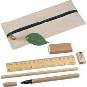 Σετ γραφής οικολογικό 6 τεμαχίων (κασετίνα, στυλό, χάρακας κ.α)