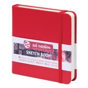 Talens Sketch book κόκκινο 80φυλ. 12x12εκ. 140 γρ.