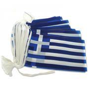 Ελληνική σημαία γιρλάντα τετράγωνη 6μ.