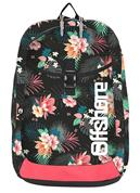 Bagtrotter τσάντα πλάτης δημοτικού λουλούδια μαύρη με 2 θήκες 49x33x12εκ.