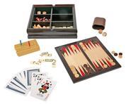 Παιχνίδια επιτραπέζια 4 σε 1 σε ξύλινο κουτί Υ5x20,8x20,8εκ.