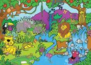 "Next παζλ ""Τα ζώα της ζούγκλας"" 35x50εκ. 48 τεμαχίων"