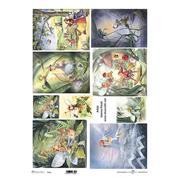 """Ριζόχαρτο """"fairies"""" 42x29.7εκ.   (ITD-R096L)"""