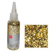 Glitter νιφάδες 1/24'' σε μπουκάλι χρυσό 30γρ.