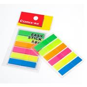Comix αυτοκόλλητοι σελιδοδείκτες 6 φωσφορούχα χρώματα 5x44x10mm