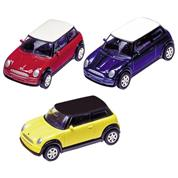 "Goki αυτοκινητάκια μεταλλικά ""Mini Cooper 2001"" 7εκ. σε 3 χρώματα"