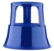 Μεταλλικό σκαμπώ-σκαλοπάτι με ρόδες, μπλε Υ43xØ29x45εκ.