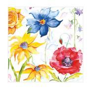 """Χαρτοπετσέτες 20τεμ. """"χρωματιστά λουλούδια"""" 33x33εκ. (SLOG 028201)"""