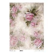 """Ριζόχαρτο """"pink roses"""" 42x29.7εκ.   (ITD-R066L)"""