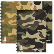 Next camouflage τετράδιο σπιράλ 17x25εκ. 4θεμ.