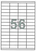 Fleks ετικέτ. αυτοκόλ. λευκές 52.5x21.2mm 56/φ 100φ Α4