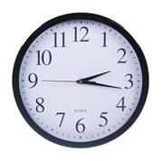 Ρολόι τοίχου Ø22εκ. μαύρο