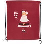 Χριστουγεννιάτικη τσάντα γυμναστηρίου κόκκινη Υ42x34εκ.