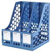 Comix λοξή γωνία τριπλή πλαστική μπλε Υ29,7x26,1x25,6εκ.
