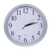 Ρολόι τοίχου Ø30εκ. ασημί