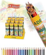 Adel ξυλομπογιές σε κύλινδρο 24 χρώματα