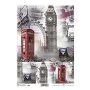 """Ριζόχαρτο """"London"""" 21x29εκ.   (ITD-R841)"""
