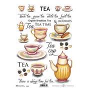 """Ριζόχαρτο """"tea red"""" 21x29εκ.   (ITD-R412)"""