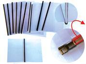 Εξώφυλλα βιβλιοδεσίας PVC με μαύρη μεταλλική ράχη 4mm (20τεμ)