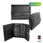 Δερμάτινο πορτοφόλι γυναικείο 27.5x13εκ. μαύρο