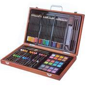 Σετ ζωγραφικής σε ξύλινο κουτί 82τεμαχίων Υ26x43x5εκ.