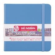 Talens Sketch book γαλάζιο 80φυλ. 12x12εκ. 140 γρ.