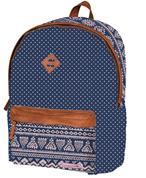 Marshmallow τσάντα δημοτικού μπλε πουά με 2 θήκες 41x32x14εκ.
