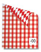 Rainbow χαρτόνι καρό λευκό-κόκκινο 2 όψεων 50x70εκ.