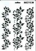 Στένσιλ απο πολυπροπυλένιο Α4 τριαντάφυλλα