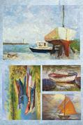 "Χαρτί decoupage ""Boats"" 32x48εκ."