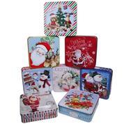 Χριστουγεννιάτικα κουτιά αποθήκευσης μεταλλικά Υ5.5x19.5x15.5εκ.