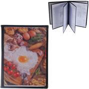 Μενού εστιατορίου μαύρο Υ29.7x21εκ. για 12 σελίδες