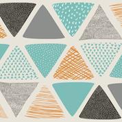 """Χαρτοπετσέτες 20τεμ. """"τρίγωνα μπλε"""" 33x33εκ. (SLOG033001)"""