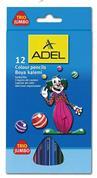 Adel ξυλομπογιές Jumbo τρίγωνες 12 χρώματα