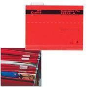 Comix κρεμαστοί φάκελοι κόκκινο Α4 Y24,3x31,9εκ.