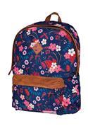 Marshmallow τσάντα δημοτικού μπλε λουλούδια με 2 θήκες 41x32x14εκ.